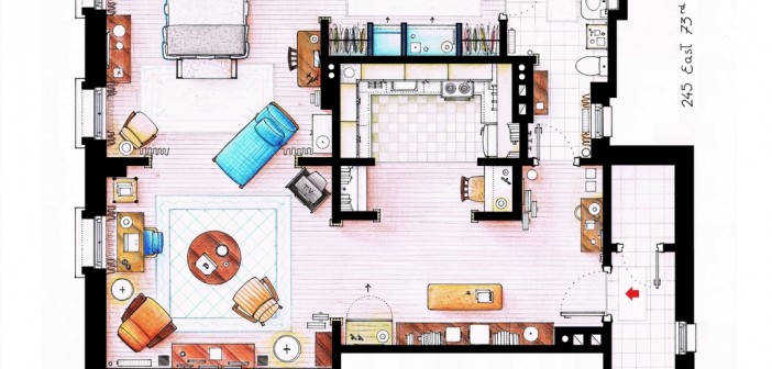plan appartement carrie bradshaw