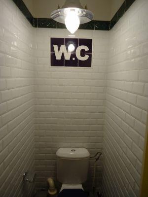 carrelage métro wc