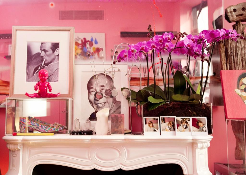 cheminee appartement d'Ines de la Fressange