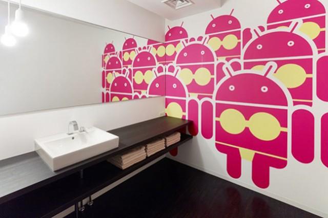 bureaux de google a tokyo wc fille