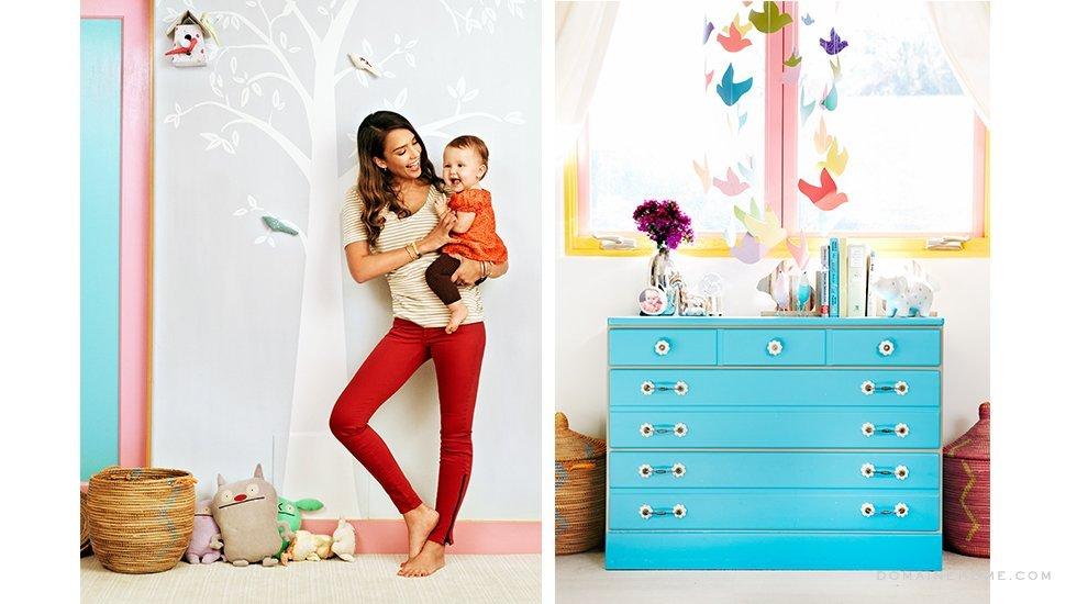 chambre bébé jessica alba