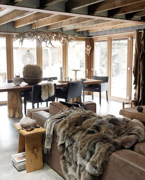 Cr er une d co montagne chic for Decoration interieur style chalet