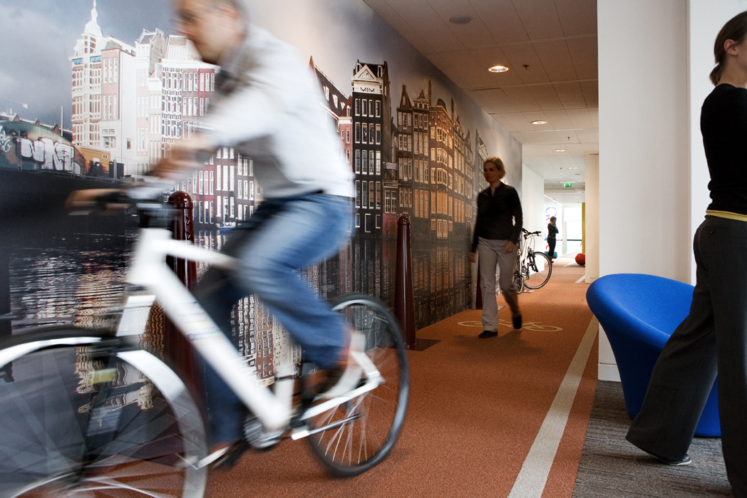 google office amsterdam piste cyclable
