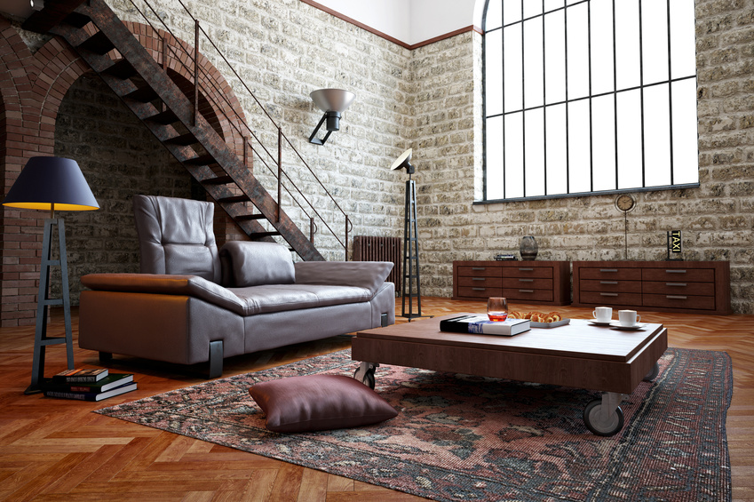 Le b ton cir dans la d co industrielle for Interieur industriel