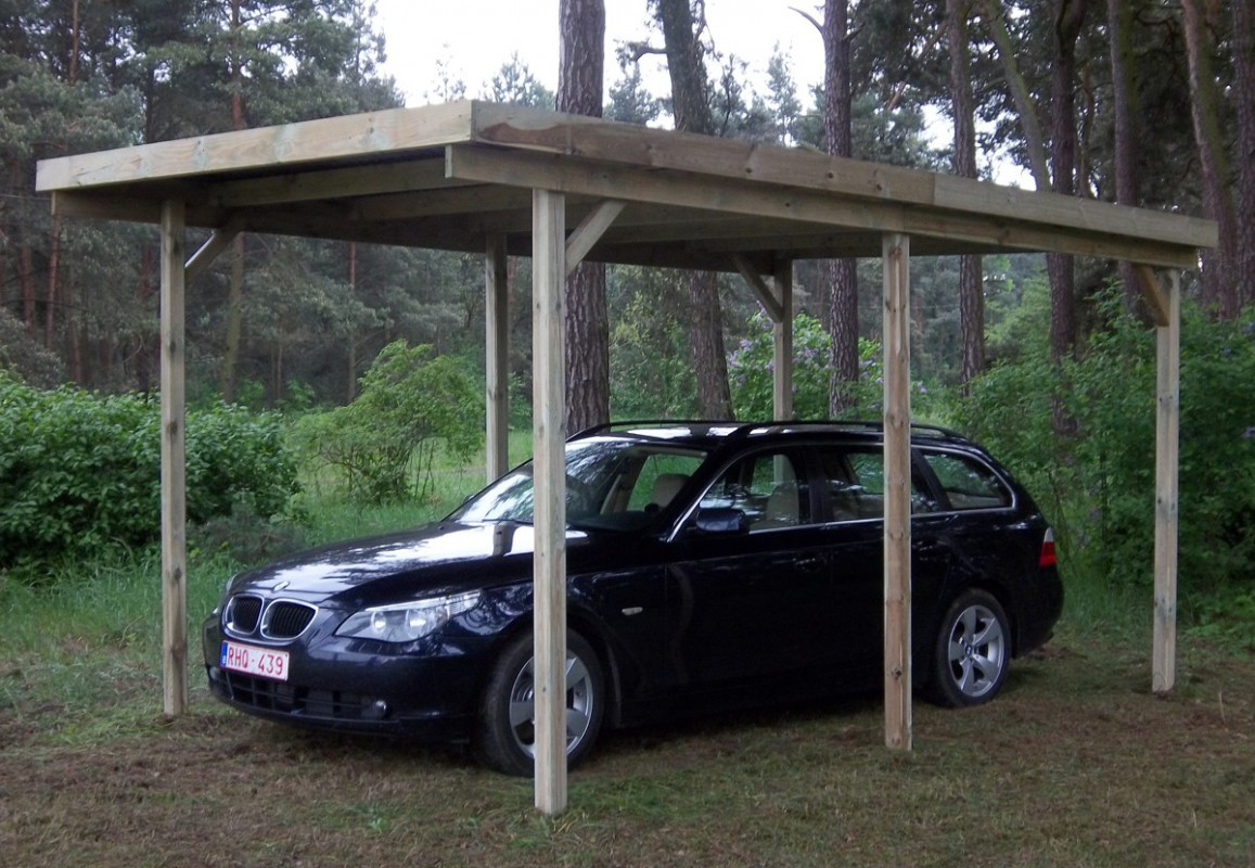 faire un carport en bois. Black Bedroom Furniture Sets. Home Design Ideas