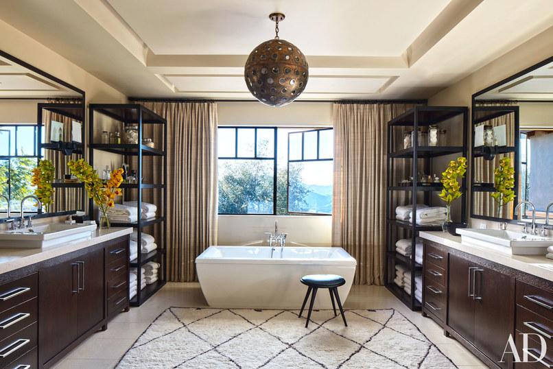 salle de bain kourtney kardashian