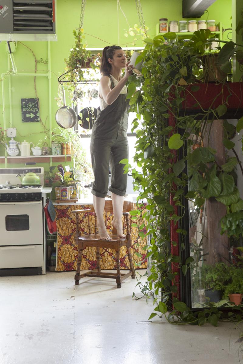 un appartement vert