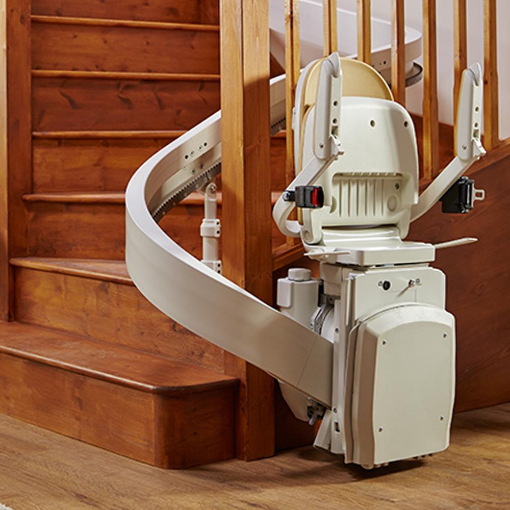comment choisir un monte escalier droit en appart. Black Bedroom Furniture Sets. Home Design Ideas